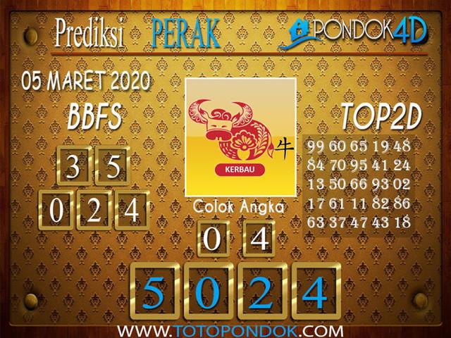 Prediksi Togel PERAK PONDOK4D 05 MARET 2020