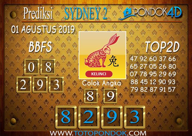 Prediksi Togel SYDNEY 2 PONDOK4D 01 AGUSTUS 2019