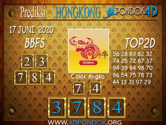 Prediksi Togel HONGKONG PONDOK4D 17 JUNI 2020