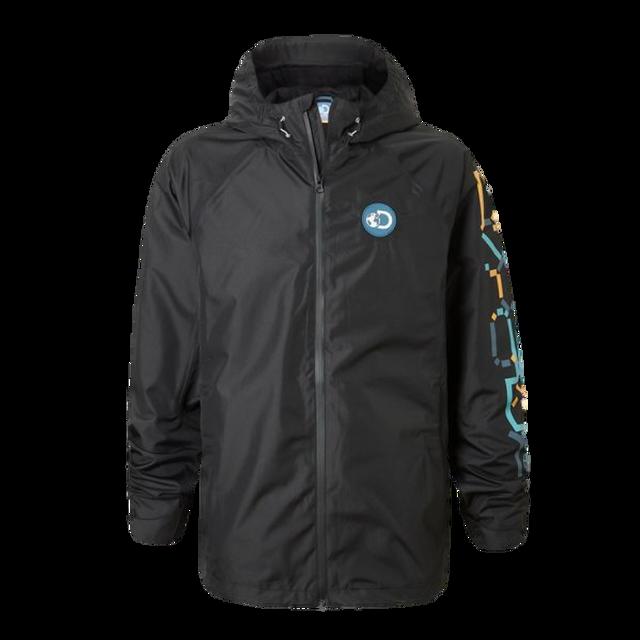 Black Mens Craghoppers Discovery Adventures Waterproof Hiking Coat Jacket