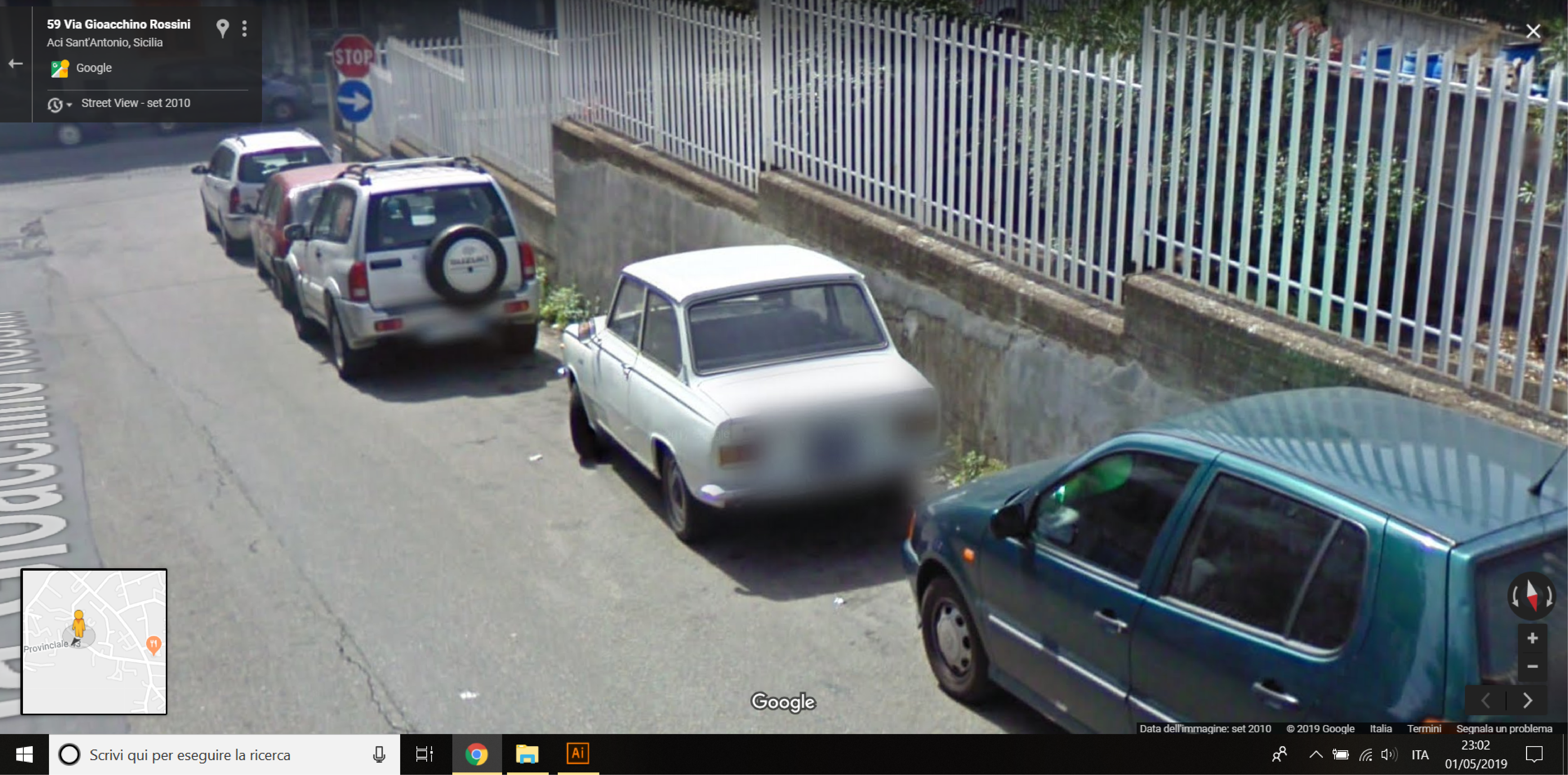 Auto  storiche da Google Maps - Pagina 10 Aci-Sant-Antonio-Via-Rossini-01