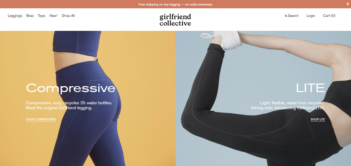 The Girlfriend Compression Leggings travel product recommended by Alexandra Tran on Pretty Progressive.