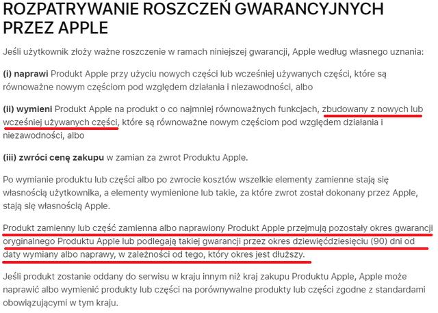 Apple-gwarancja
