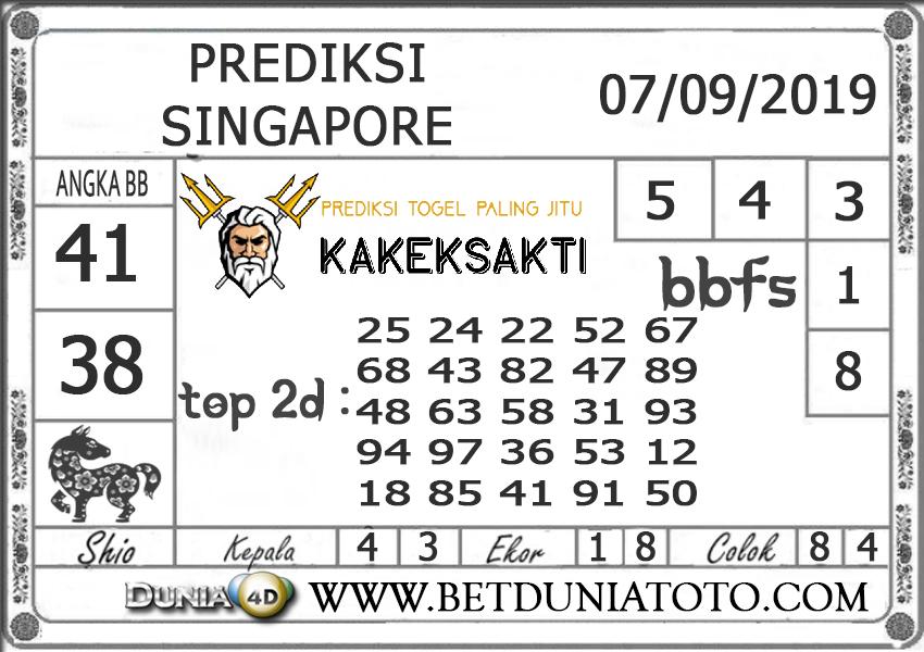 """Prediksi Togel """"SINGAPORE"""" DUNIA4D 07 SEPTEMBER 2019"""