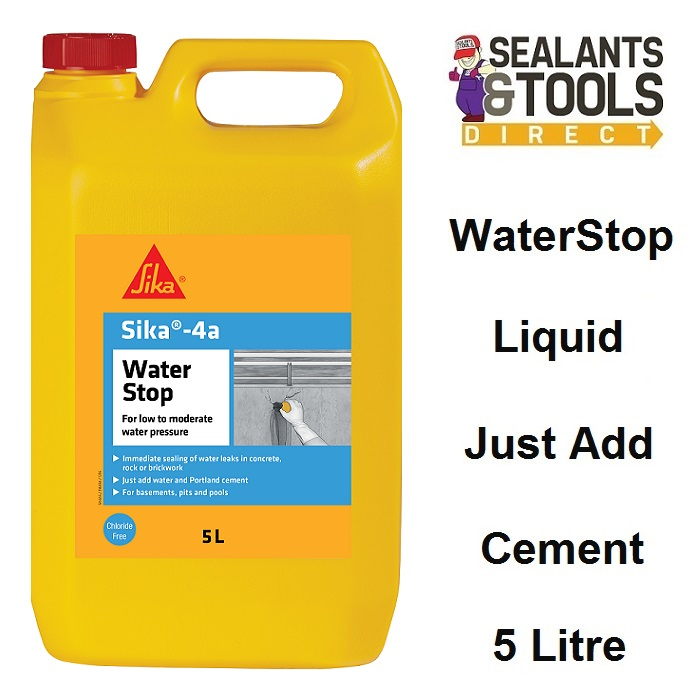 Sika 4a WaterStop Cement Admixture 5 Litre SK4A5