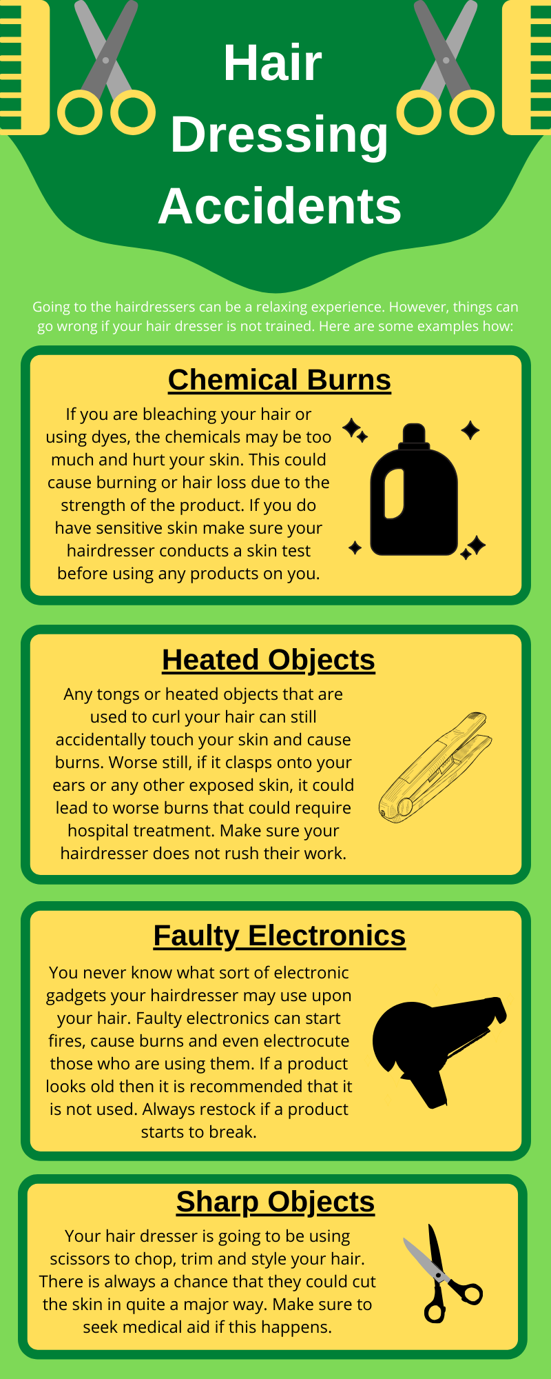 hairdressing accidents infographic