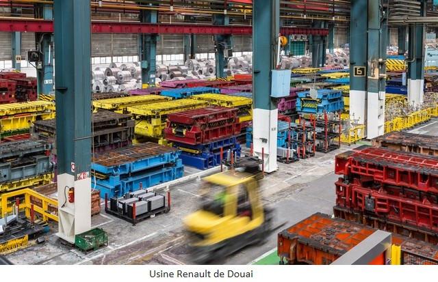 Renault Group signe un accord social et crée Renault ElectriCity: le pôle industriel électrique du nord de la France Usine-Renault-de-Douai-1