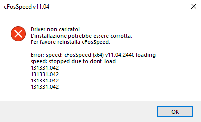 cFosSpeed driver not loaded Driver-not-loaded