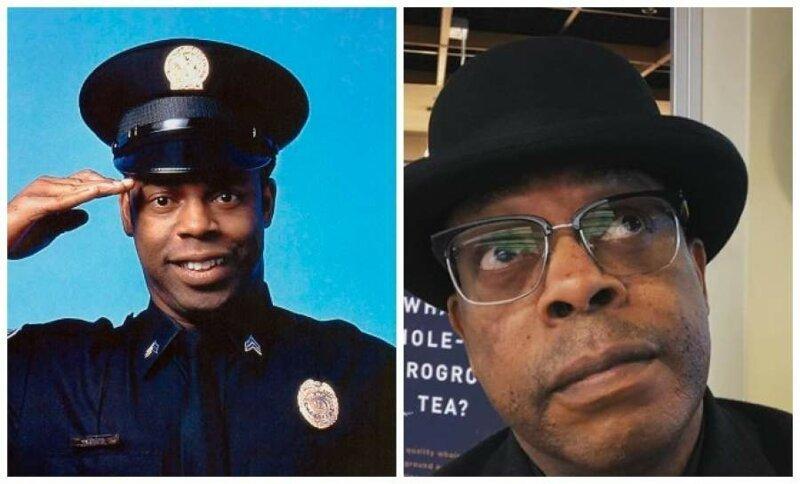 Майкл Уинслоу, 60 лет - курсант Ларвелл Джонс (который мастерски умел имитировать звуки любви) актеры, кино, комедия, любимое кино, полицейская академия, роль, фильм, юмор