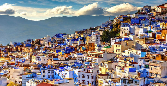 Moroccan city chefchaouen