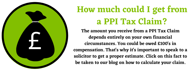 PPI Tax Claim money