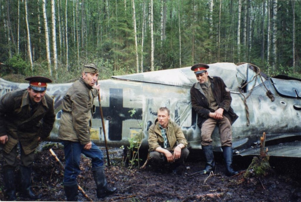 legendary Focke-Wulf Fw 190A-5 / U3 WNr.1227 found in the swamp. Leningrad Russia 1989