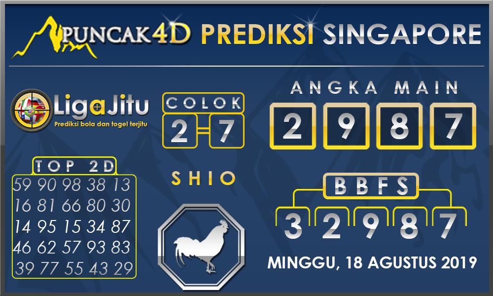 PREDIKSI TOGEL SINGAPORE PUNCAK4D 18 AGUSTUS 2019
