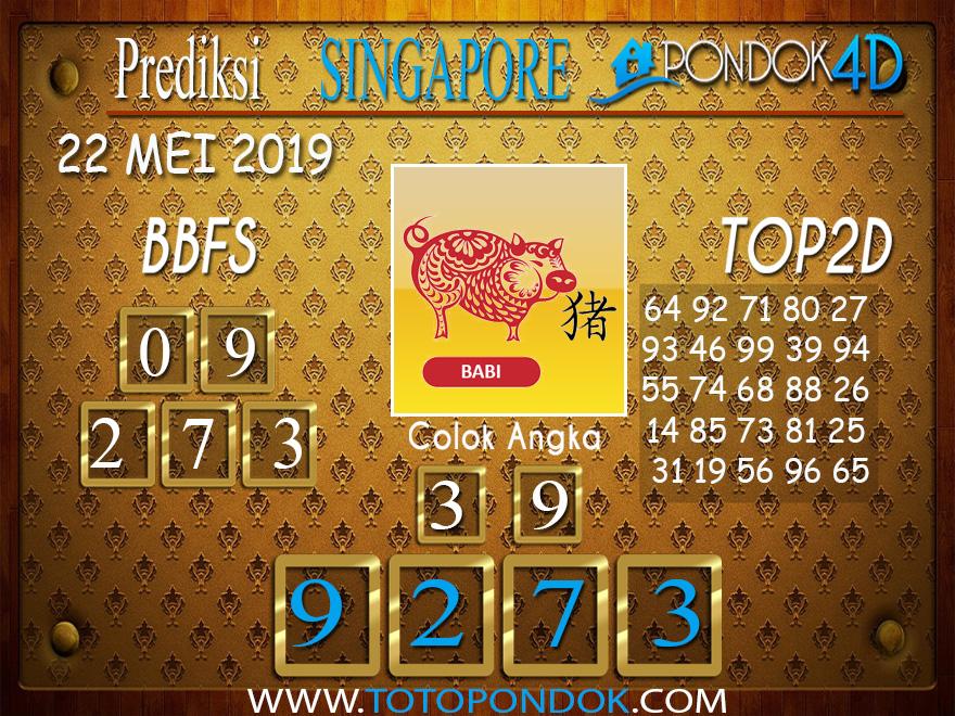 Prediksi Togel SINGAPORE PONDOK4D 22 MEI 2019