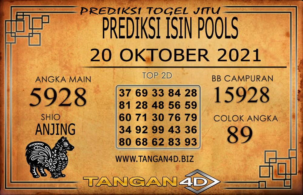 PREDIKSI TOGEL ISIN TANGAN4D 19 OKTOBER 2021