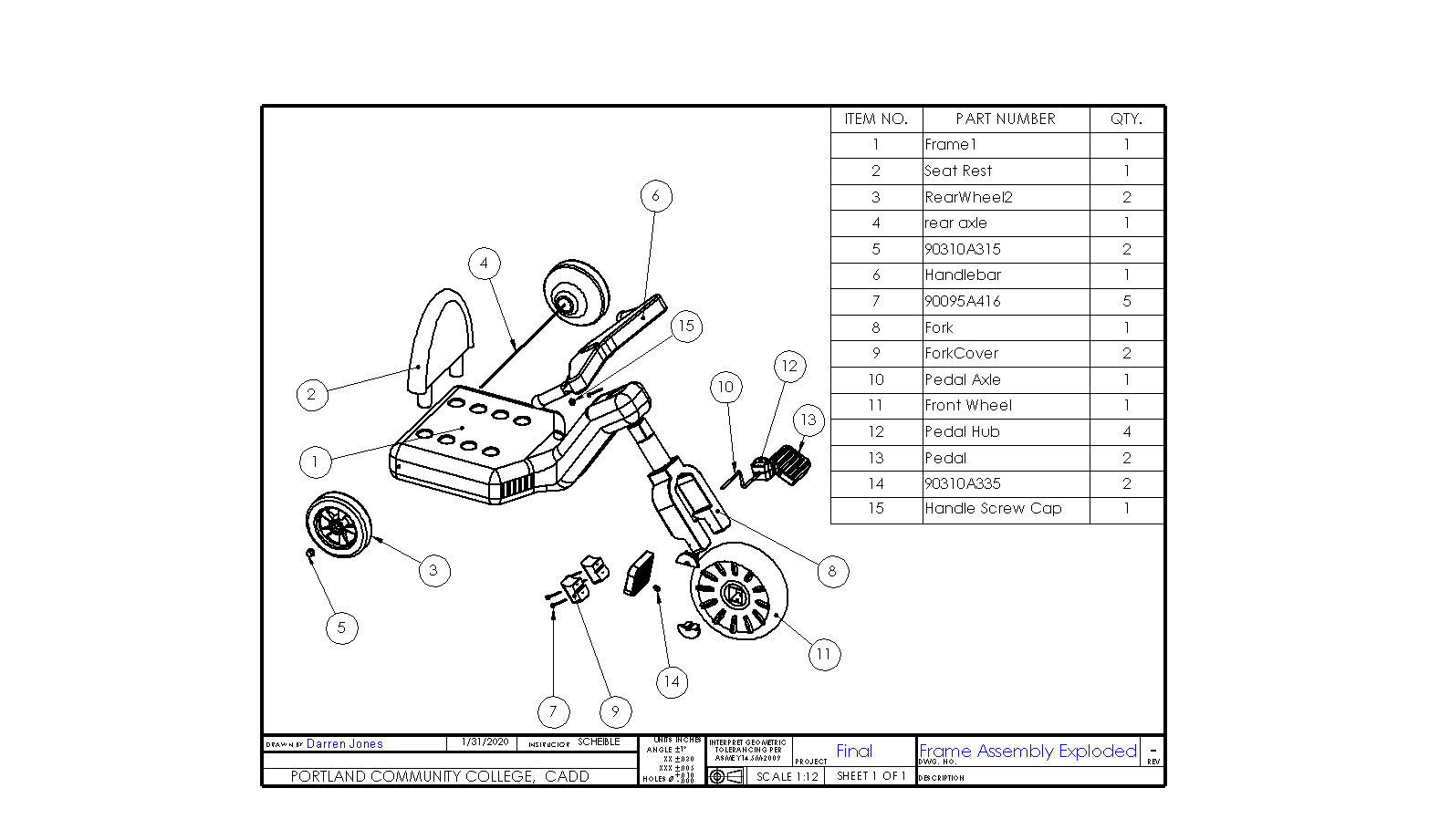 power wheel exploded view