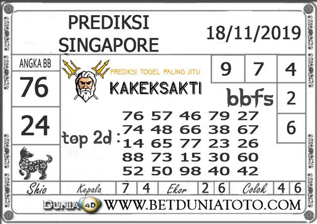 """Prediksi Togel """"SINGAPORE"""" DUNIA4D 18 NOVEMBER 2019"""