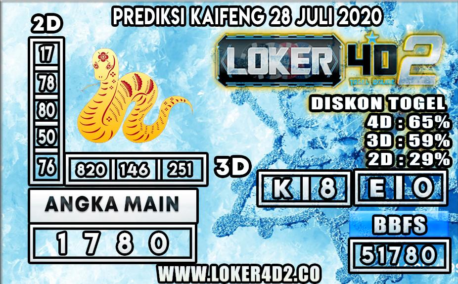 PREDIKSI TOGEL LOKER4D2 KAIFENG 28 JULI 2020