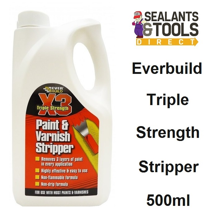 Everbuild X3 Paint & Varnish Stripper Remover STRIPX1 1 Litre