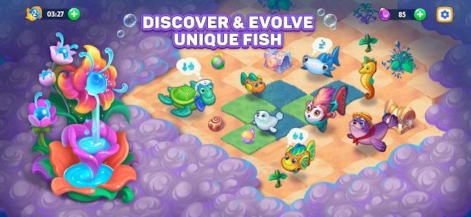 Sea Merge Fish Games in Aquarium & Ocean Puzzle 4