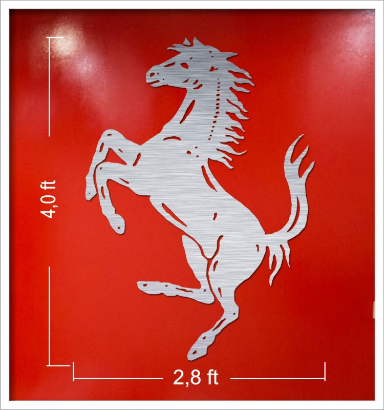 FERRARI CAR LASERCUT MANCAVE DISPLAY SIGNS 7