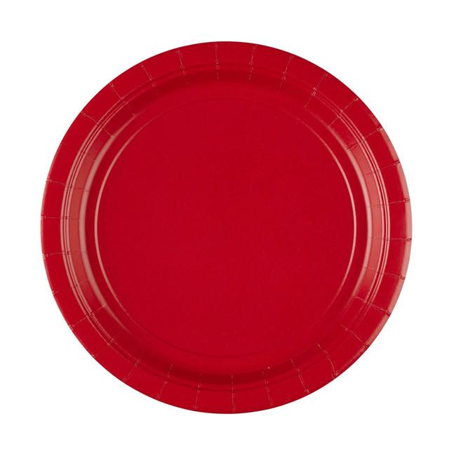 თეფში წითელი ქაღალდის 8ც