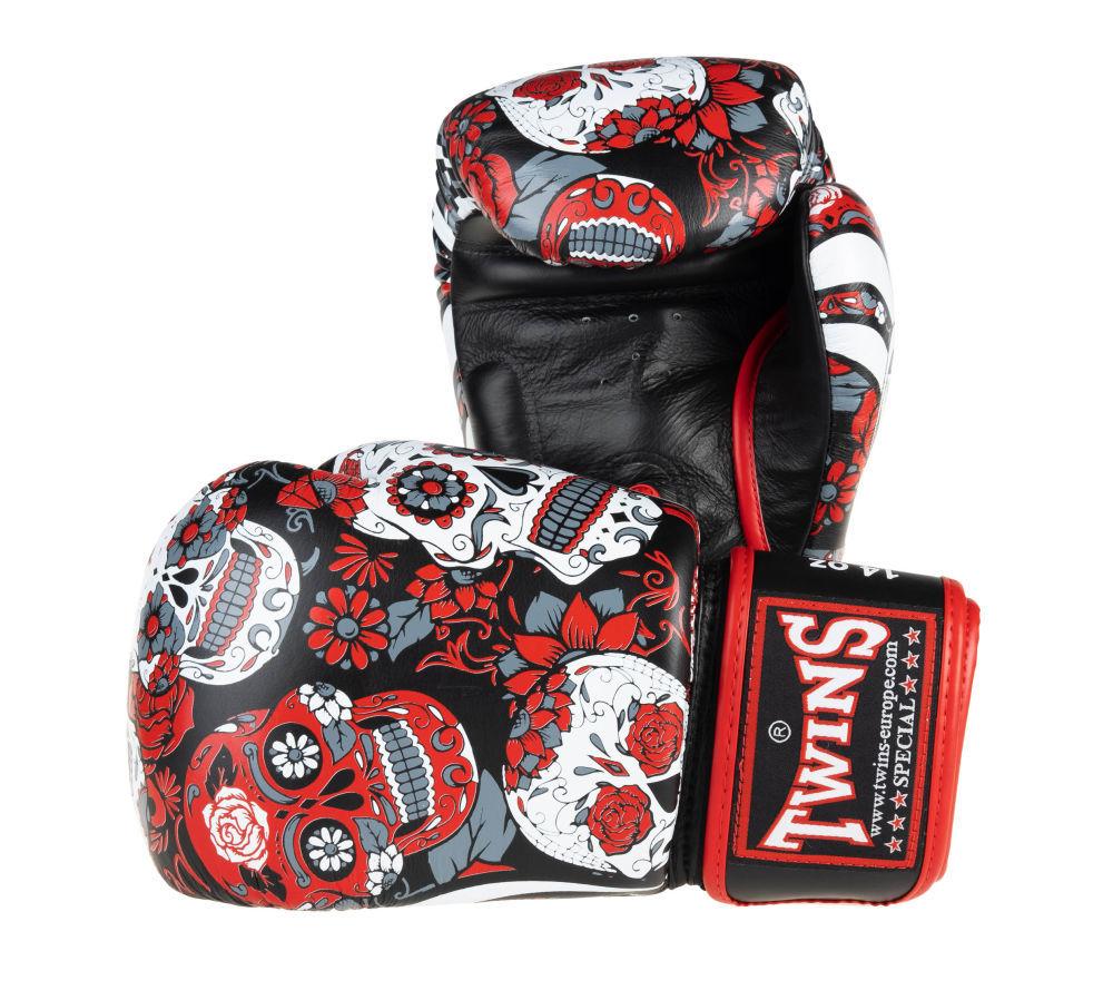 Оригинальные боксерские перчатки Twins Muerto SKULL4