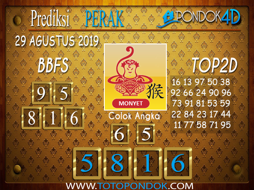 Prediksi Togel PERAK POOLS PONDOK4D 29 AGUSTUS 2019