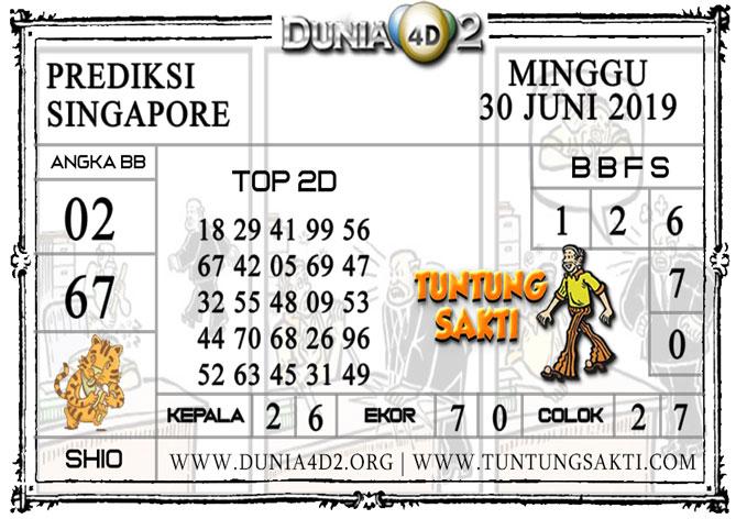 """Prediksi Togel """"SINGAPORE"""" DUNIA4D2 30 JUNI 2019"""