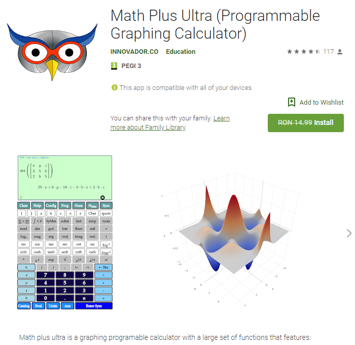 Math Plus Ultra (Programmable Graphing Calculator)