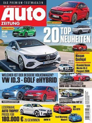Cover: Auto Zeitung Premium Test-Magazin No 20 vom 15  September 2021