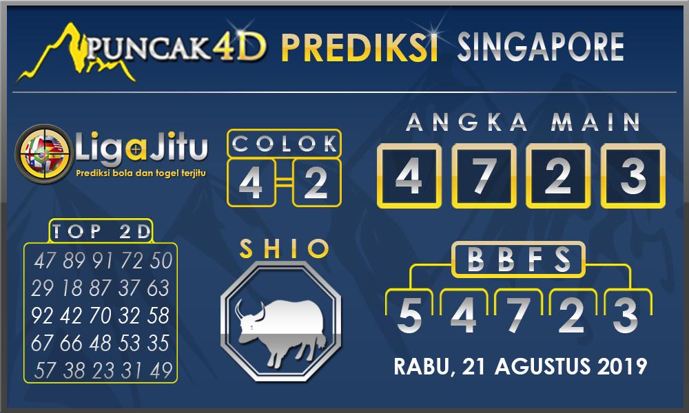 PREDIKSI TOGEL SINGAPORE PUNCAK4D 21 AGUSTUS 2019
