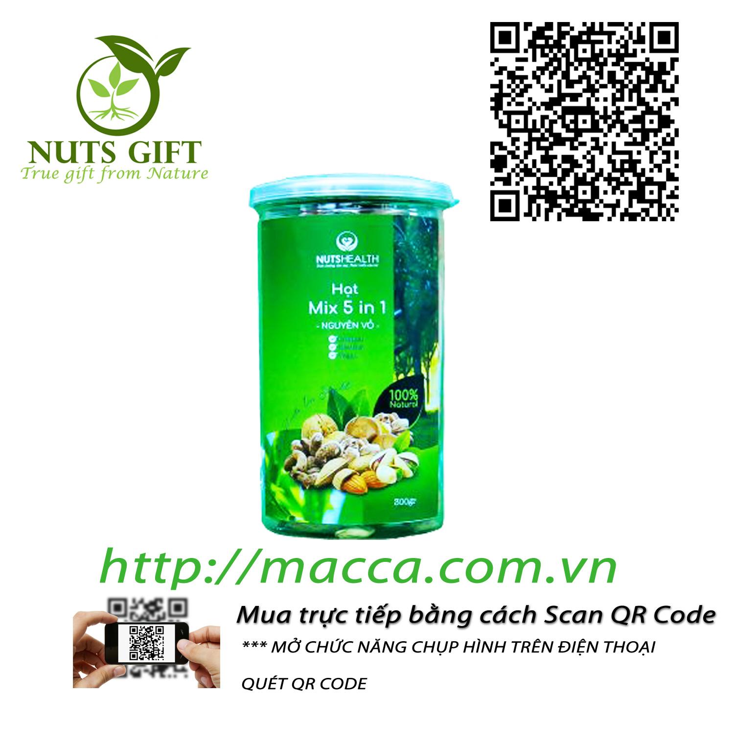 Hạt Tổng Hợp (Mixed Nuts) còn vỏ – Nutshealth – 300gr