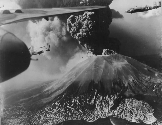 B 25 enroute to bomb Monte Cassino march 1944