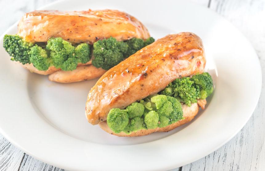 Broccoli-stuffed-chicken-breast