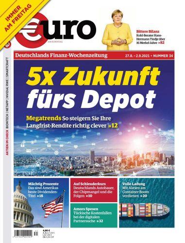 Cover: Euro am Sonntag Finanzmagazin No 34 vom  27  August 2021