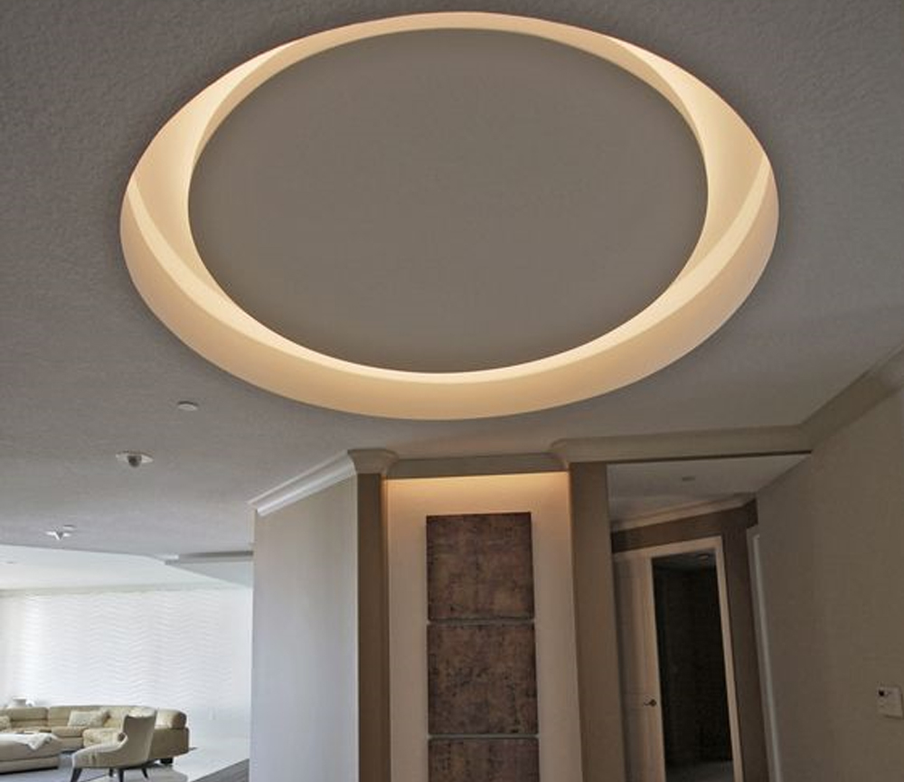 recessed circle with LED lights
