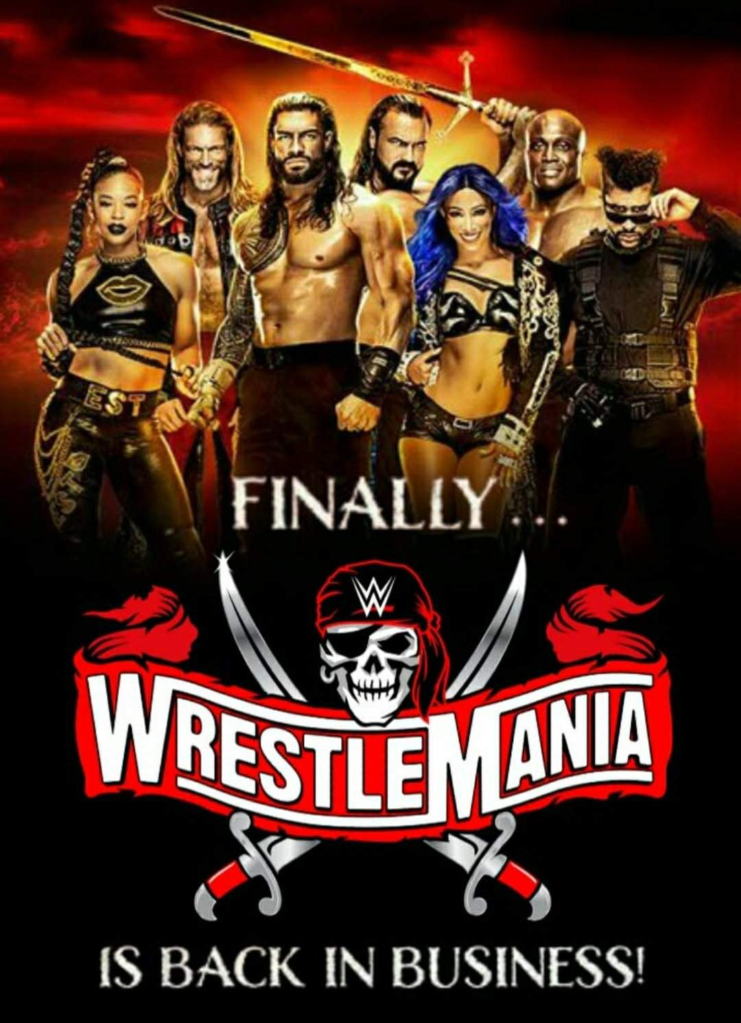 WWE WrestleMania 37 Night 2 PPV 720p HDRip 2.4GB Download