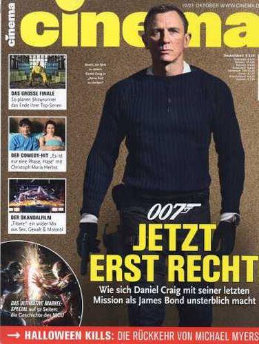 Cover: Cinema das Kinomagazin No 10 Oktober 2021
