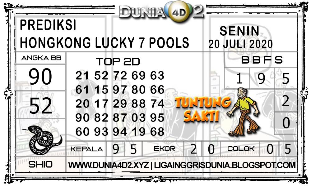 Prediksi Togel HONGKONG LUCKY7 DUNIA4D2 20 JULI 2020