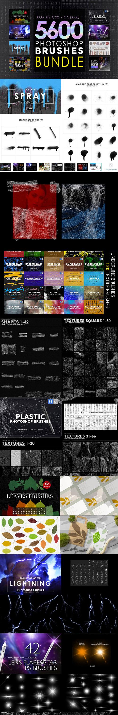 CreativeMarket - 5600 Photoshop Brushes Mega Bundle 5825386