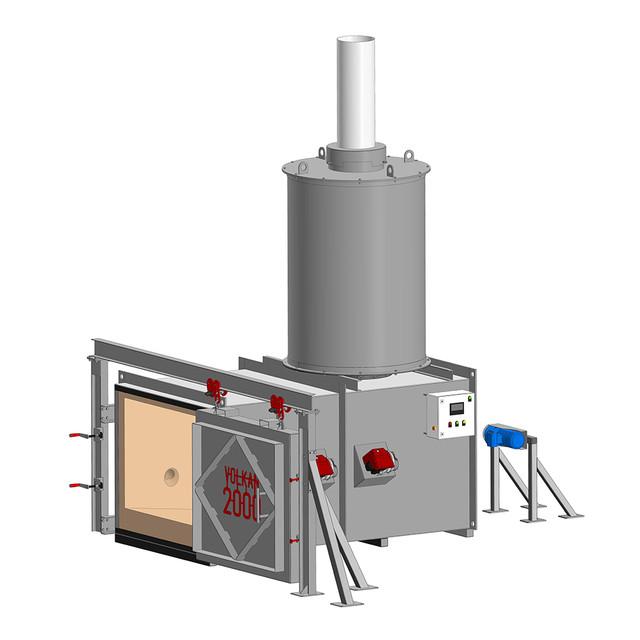 Инсинератор VOLKAN 2000 - Автоматизация процессов эксплуатации