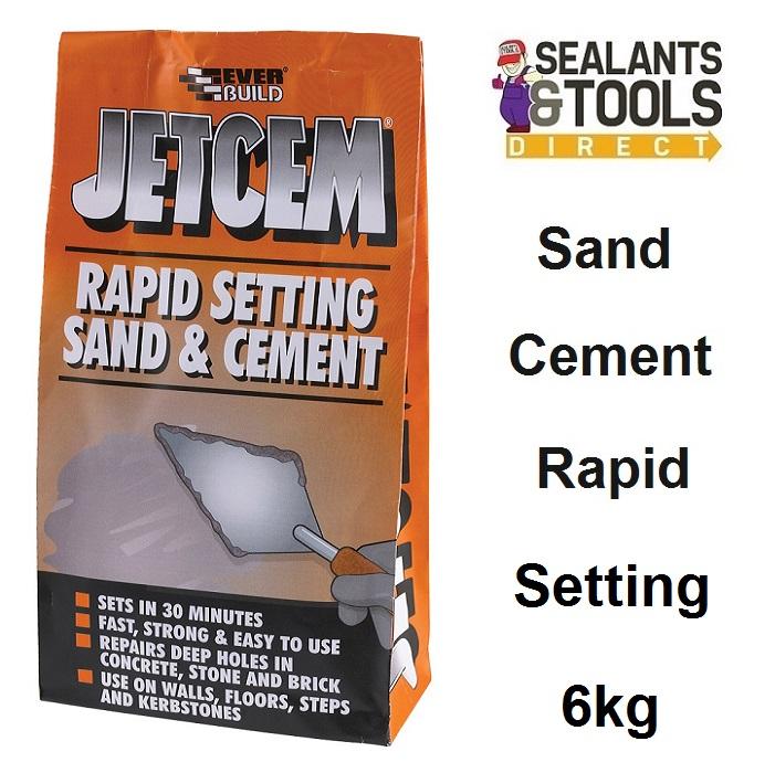 Everbuild JetCem Rapid Setting Sand & Cement 6kg JETMIX6