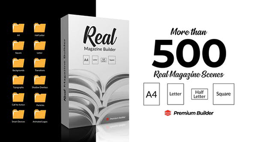 Real Magazine Builder for Element 3D 29703858 - Project & Script for After Effects (Videohive)