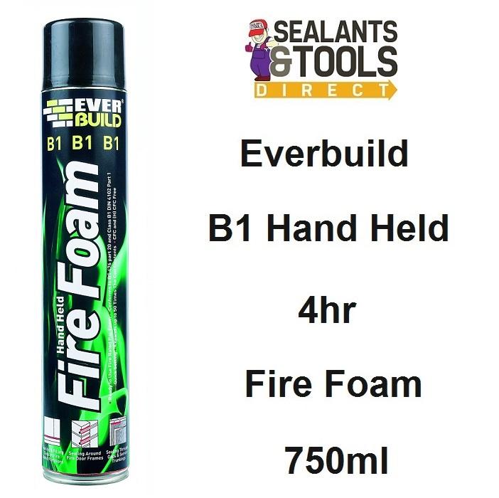 Everbuild B1 Expanding 4hr Fire Foam Hand Held 750ml EVFIRE
