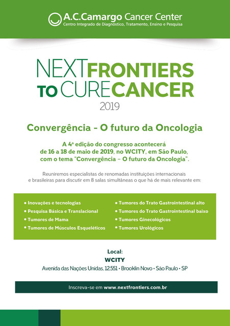 Next Frontiers to Cure Cancer