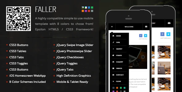 ThemeForest - Faller Mobile v1.0 - 6087395