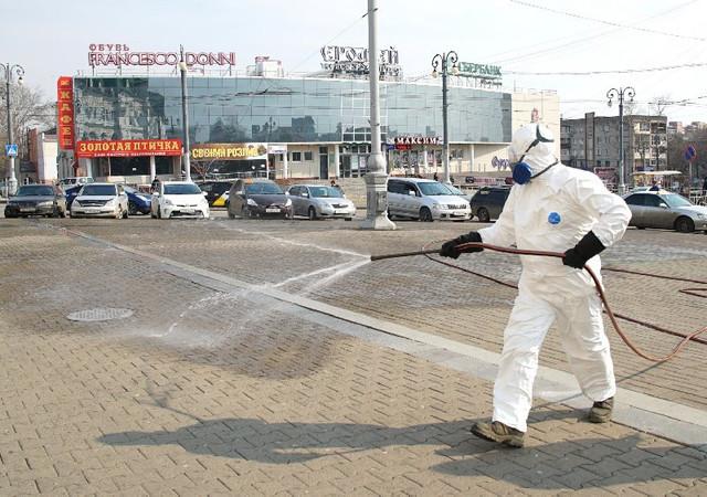 К обеззараживанию хабаровских улиц подключат военных