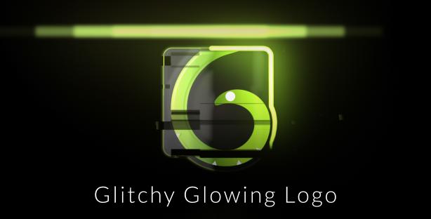 Glitchy-Glowing-Logo-Reveal