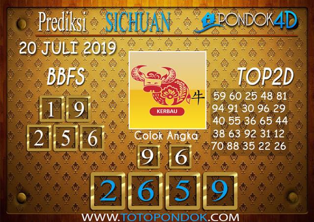 Prediksi Togel SICHUAN PONDOK4D 20  JULI 2019